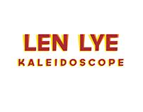 Len Lye: Kaleidoscope exhibition branding