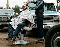 Fargo in Russia / shooting for barbershop Headbusters.