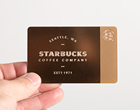 Limited Edition Rose Gold Starbucks Card