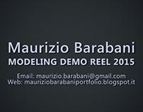 Modeling Demo Reel 2015
