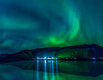 Northen Lights in Vik by autumn 2015