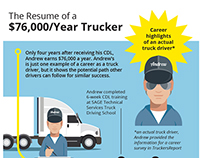 Truckers Report: $70,000 Truck Driving Job #INFOGRAPHIC