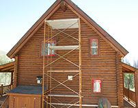 Refinishing Log Home in Grand County, Granby