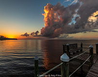 Sunrise From Coastline RV Resort Pier