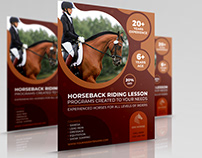 Horseback Riding Training Flyer Template