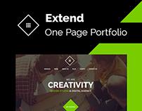Extend - One Page Portfolio