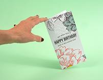 Birthday gift card sleeve for Aqua Spa Resorts