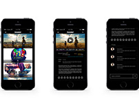 Макет для мобильного приложения tvzavr