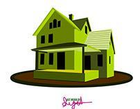 Cartoon Home Artwork