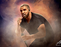 Drake Digital Oil Painting by WayneFlint