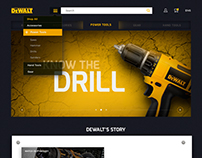 DeWALT E-commerce Website Concept