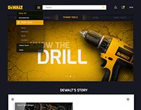 DeWALT E-commerce Website Concept