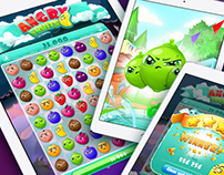 """Angry Fruits"" match3 game for mobile devices."