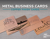 Brushed Copper Finish Metal Business Cards