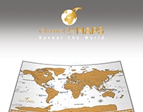 Scratch Off Maps Logo, Print design, Showcase Images