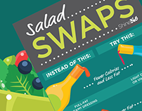 DESIGN & ILLUSTRATION: Salad Swaps Chart