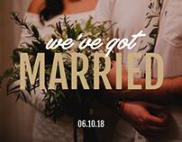we've got married!