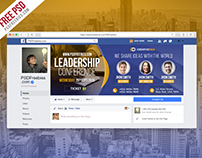 Free PSD : Conference Announcement Facebook Cover PSD