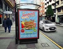 Sandwich Restaurant Poster Template