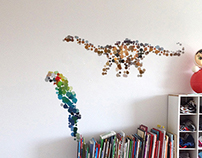 Dotted animals wall stickers and sculptures