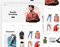 E-commerce minimal website