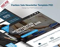 Freebie :  Fashion Sale Newsletter Free Template PSD
