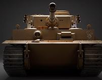 German Tiger Tank - Afrika Scheme