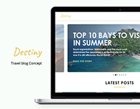 Destiny | Travel blog design concept