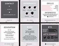 Creative Resume + Business Card Design