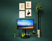 RE-DESIGN samsung QLED stand tv winner design contest