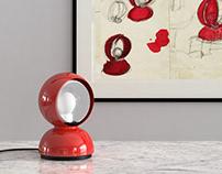 Free 3d model / Eclisse Table Lamp by Artemide