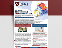 RENT PROTECT PROVIDES PROTECTION BUSNIESS AGENCY FLYER