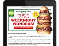 Food Network magazine web marketing campaign