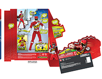 Power Rangers Toy Packaging for Bandai Berman Design