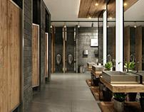 Design & Visualization: Ezdan Mall Qatar Toilets