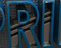Typography Metal work