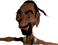 3d characted design SNOOP DOGG