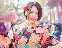 portrait * kimono * asakusa