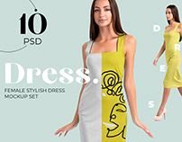 Female Elegant Dress Mockup Set
