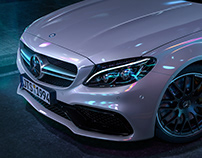 BENZ AMG C63 IN NEOM