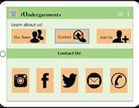 fUndergarments - Tablet & Mobile Design