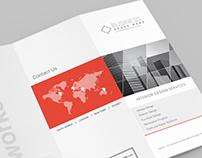 US Letter Z-Fold Brochure Mockups - 6psd