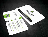 Unique Corporate White Business Card Template Free