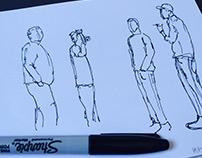 Croquis sur les différentes postures