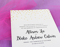 Confetti Wedding Invites