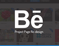 Behance Project Page Redesign Concept