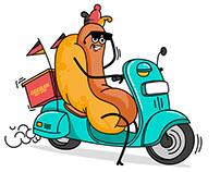 German Hot Dog character