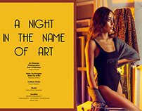 A NIGHT IN THE NAME OF ART published on SALYSE magazine