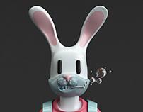 Conejo Flowers - Diseño de personaje.