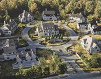 3D Landscape Exterior Rendering. Classy Cottages